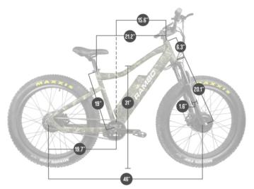 500 X2WD Krusader Dimensions
