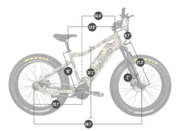 750 XPC Bushwacker Dimensions