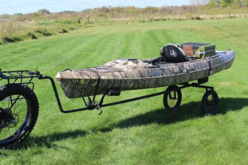 Kayak e-bike trailer